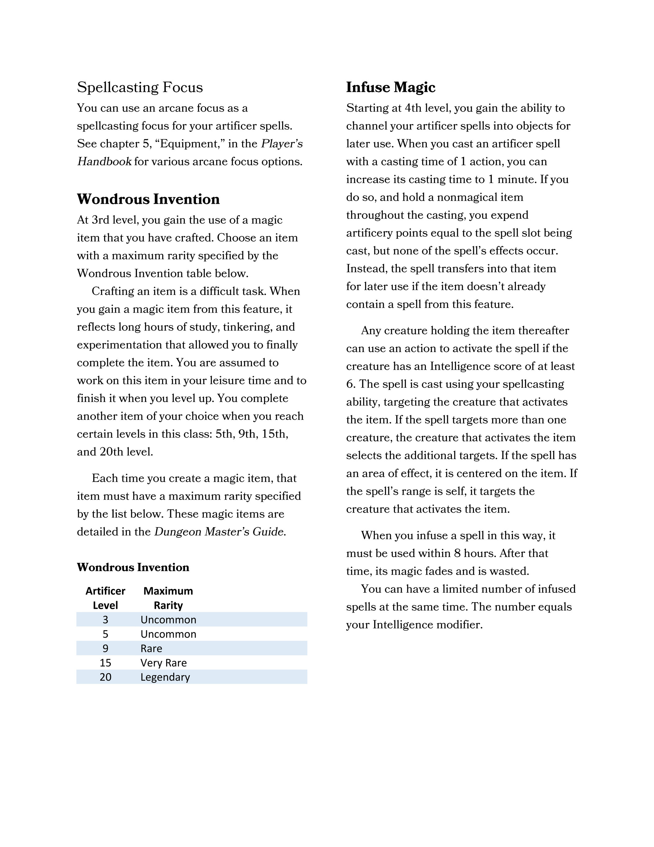 1988 Ua Artificer Homebrew Update Frognosticator V2 0 Page 1 Created With Publitas Com 2020 spells and magic tattoos. publitas