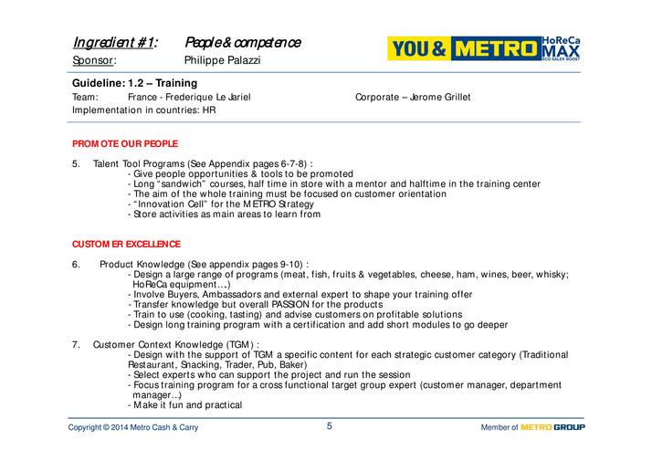 Corporate - HoReCa MAX – Guidelines Index - Page 1