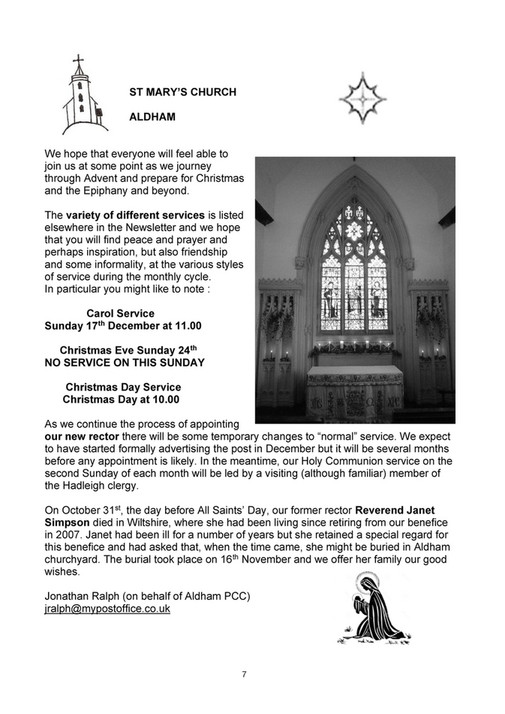 My publications - Elmsett & Aldham Newsletter Dec 17 - Page 8-9