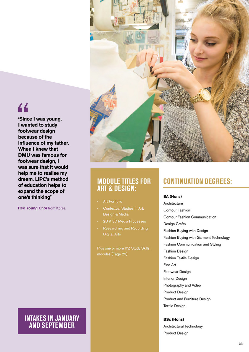 Oxford International Education Group Leicester International Pathway College Brochure 2018 19 Page 32 33 Created With Publitas Com