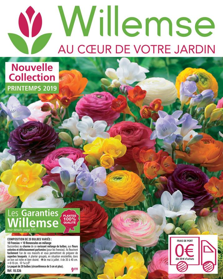 Nouvelle Collection PRINTEMPS 2019 Les Garanties Willemse Voir détails page  121 COMPOSITION DE 20 BULBES VARIÉS