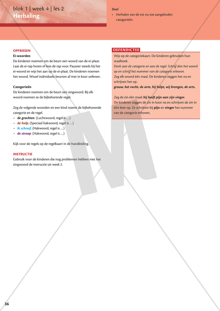Verwonderlijk Malmberg - Staal Spelling Handleiding Groep 4 blok 1 - Pagina 38-39 OJ-59