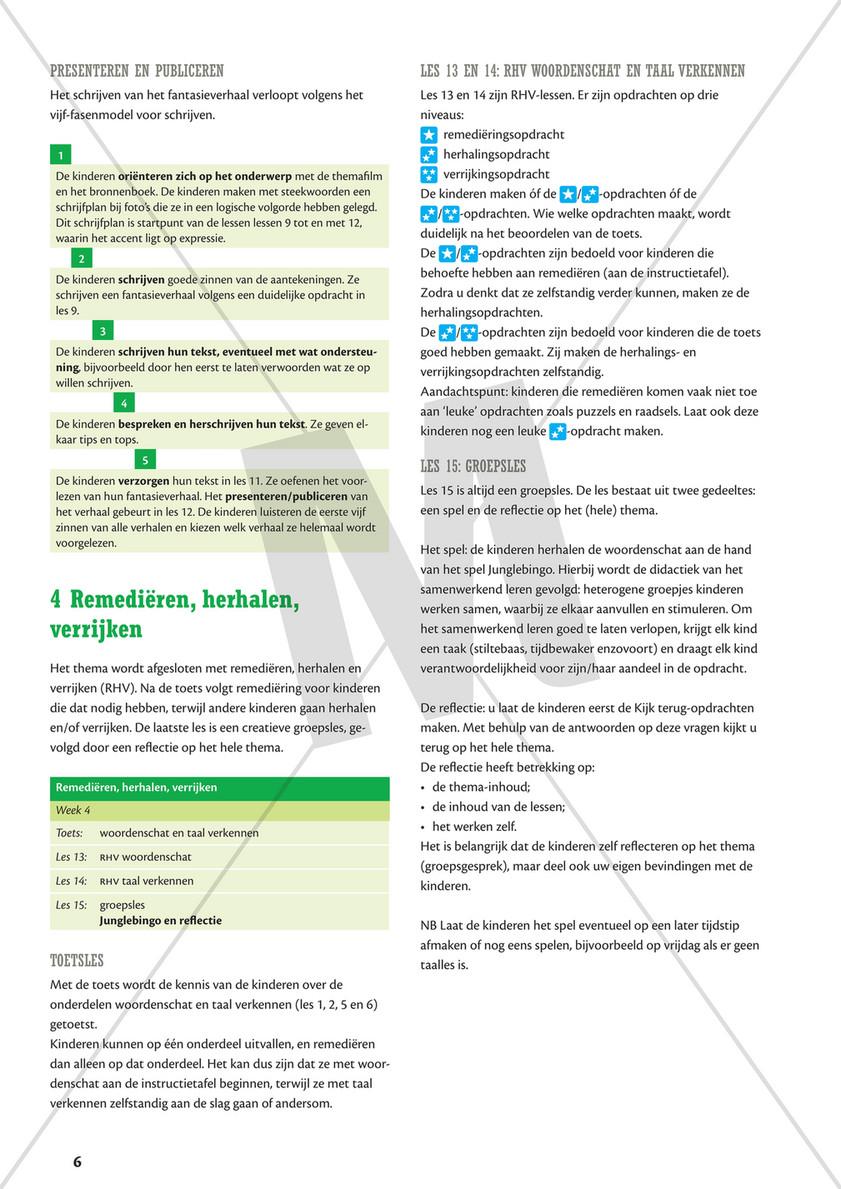 Verwonderlijk Malmberg - Staal Taal Handleiding Groep 6 thema Jungle - Pagina 8-9 NX-67