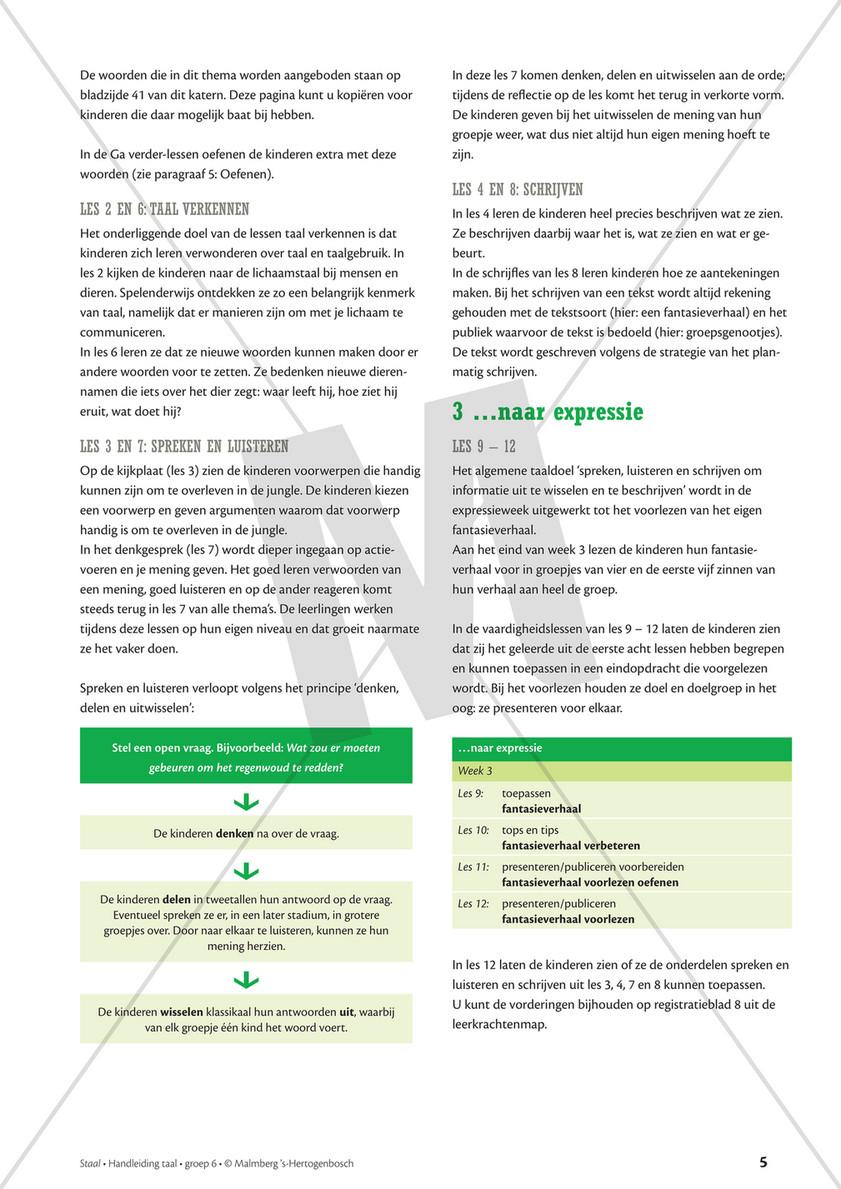 Nieuw Malmberg - Staal Taal Handleiding Groep 6 thema Jungle - Pagina 6-7 QJ-09