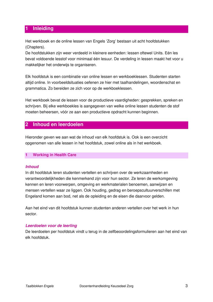 Malmberg Taalblokken Engels Prodcutieve Vaardigheden Zorg