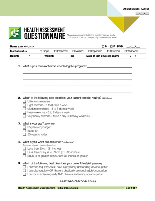 Trinh International Health Assessment Form Page 1 Created With