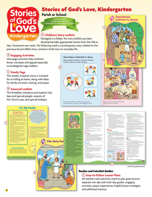 Rcl Benziger Stories Of Gods Love Sampler And Scope Sequence