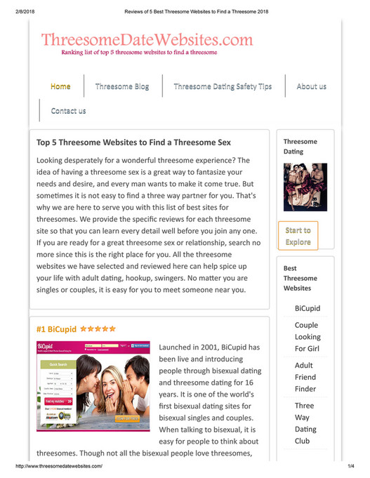Websites to find threesomes