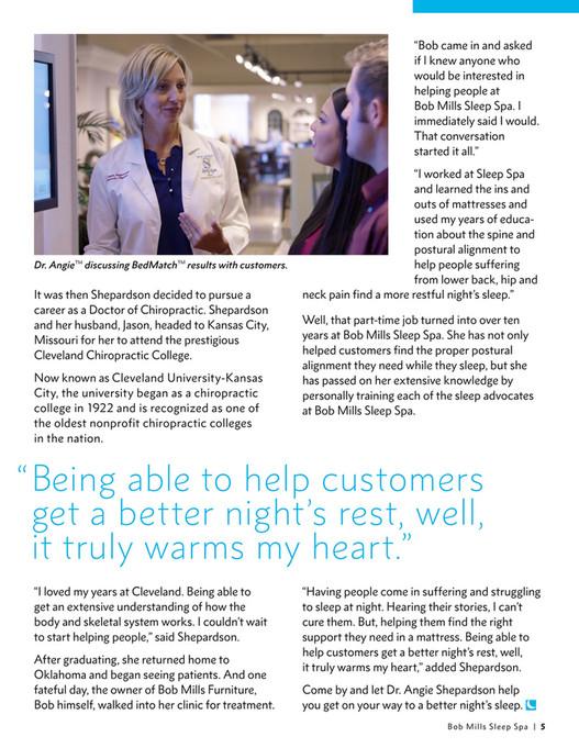 Bob Mills Furniture Bob Mills Sleep Spa Magazine Page 6 7