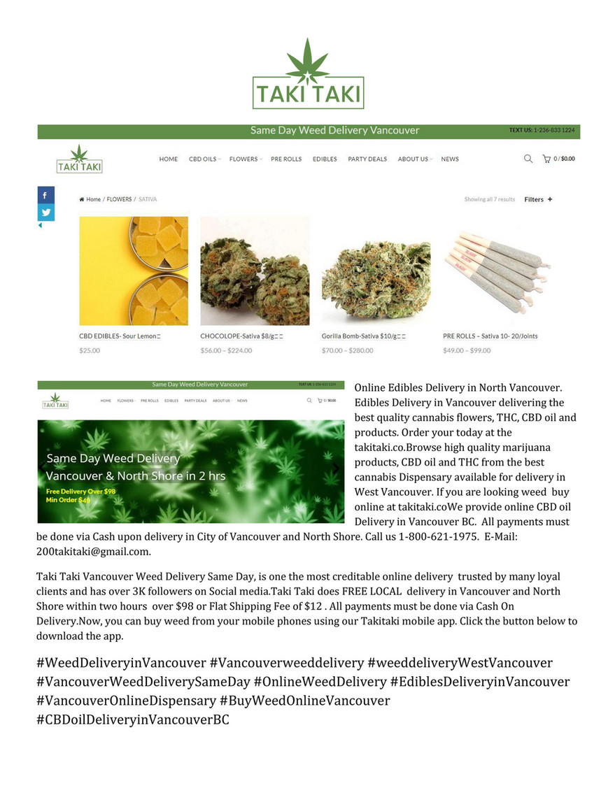 Seo Sativa Edibles Delivery Vancouver Page 1 Created With Publitas Com