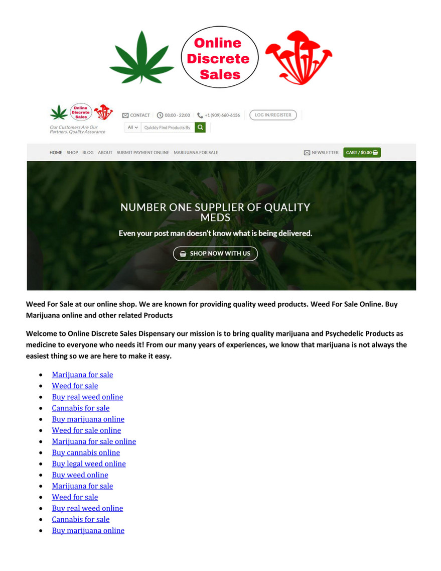 seo - Weed for sale - Page 1 - Created with Publitas.com