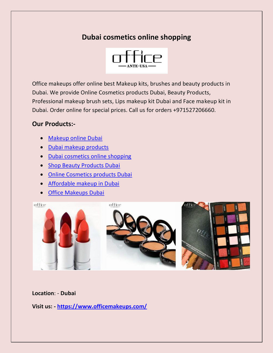 seo - Dubai cosmetics online shopping - Page 1 - Created with
