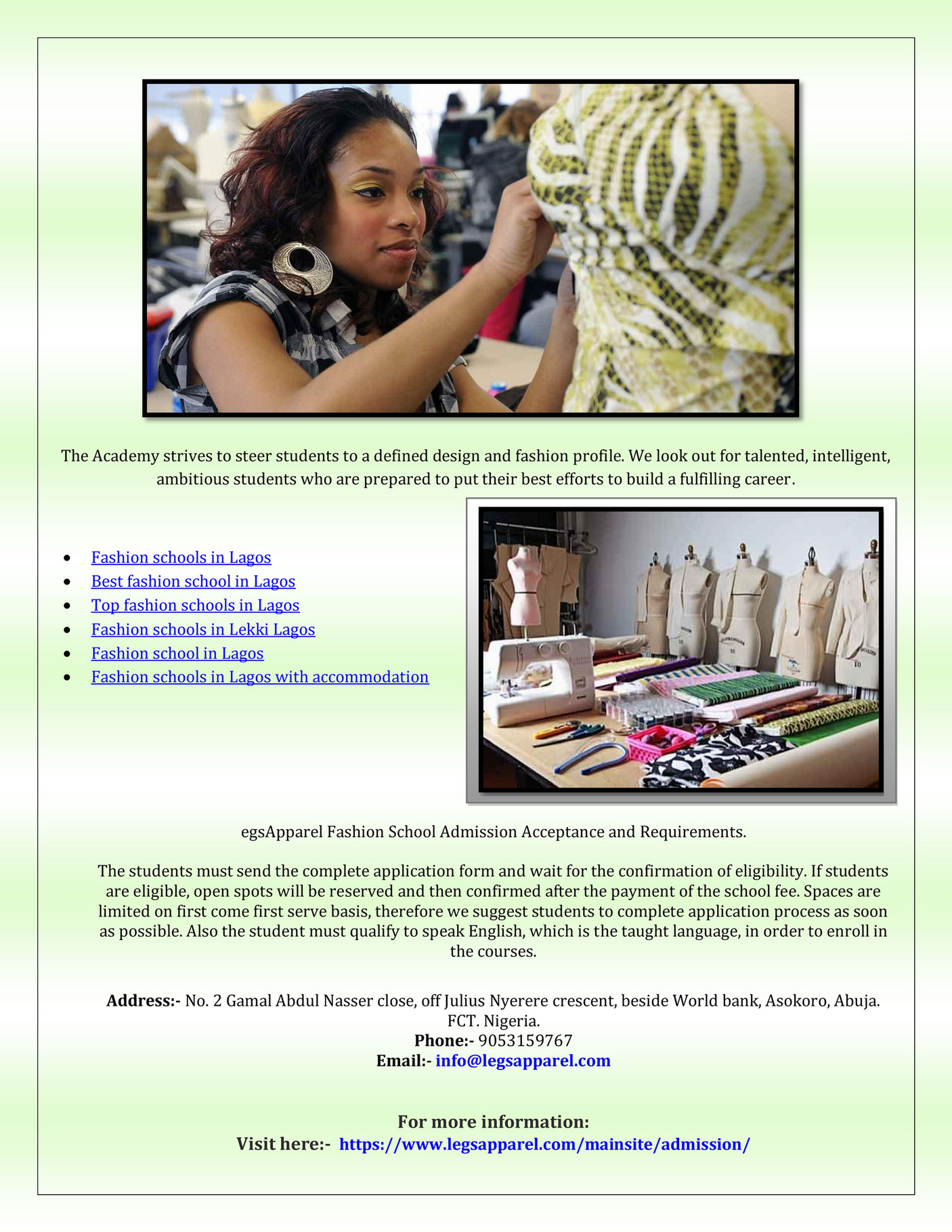 Seo Fashion Schools In Lekki Lagos Page 1 Created With Publitas Com