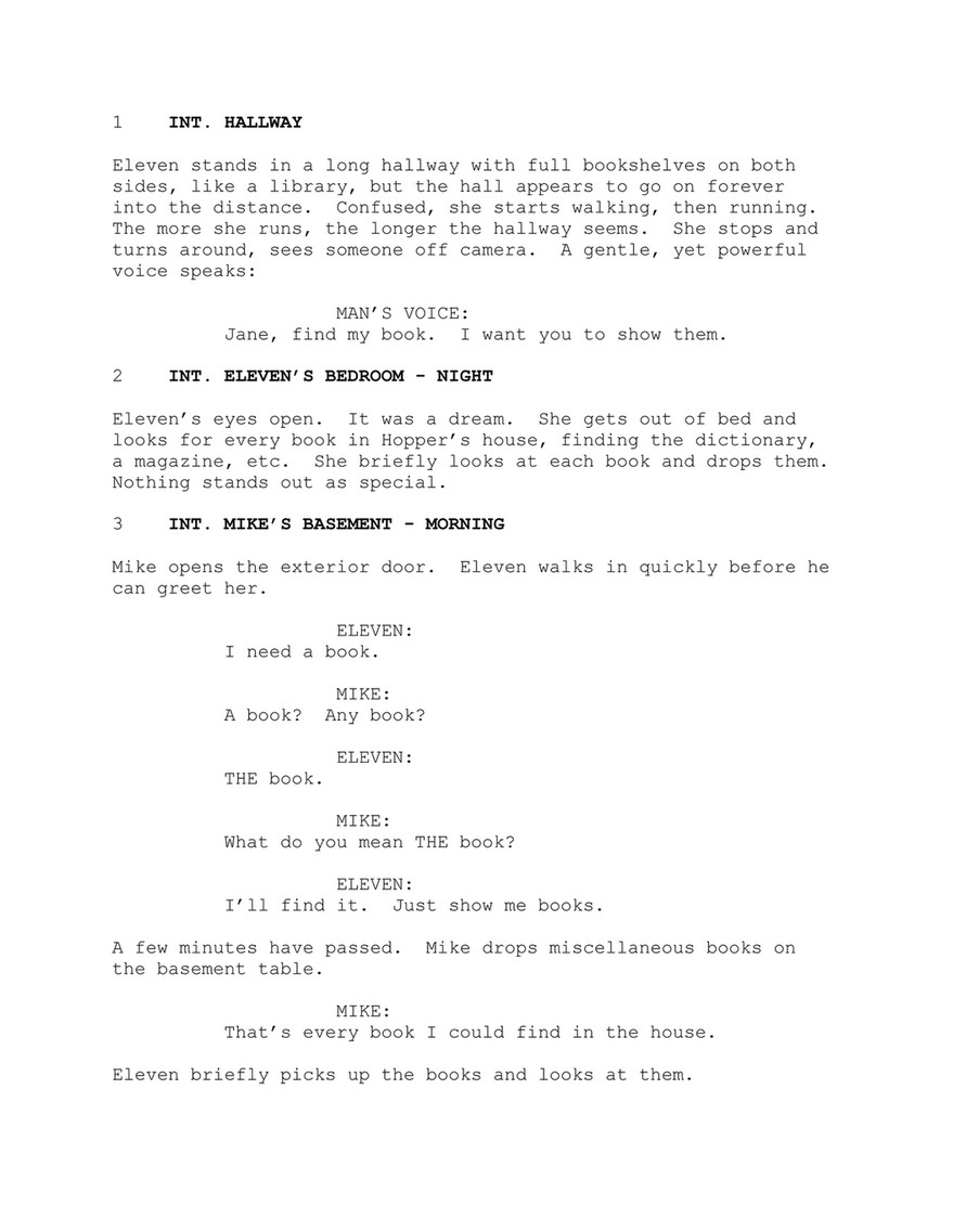 Stranger Things 3 - SCRIPT - Page 2 - Created with Publitas com