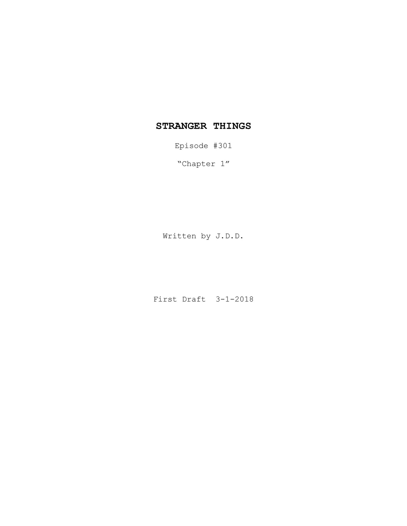 Stranger Things 3 - SCRIPT - Page 1 - Created with Publitas com