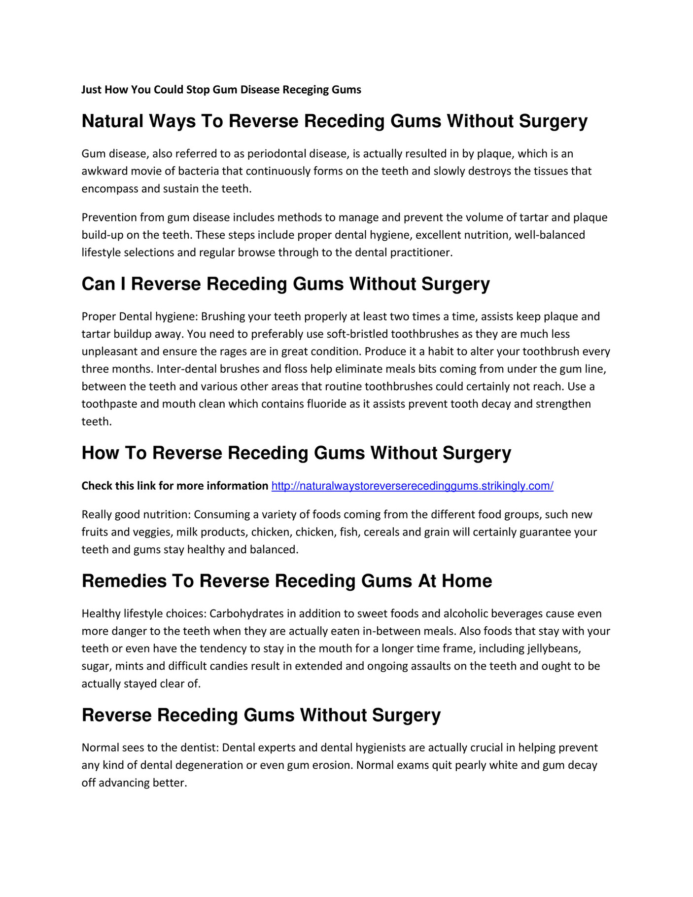 My publications - How To Reverse Receding Gums Without Surgery