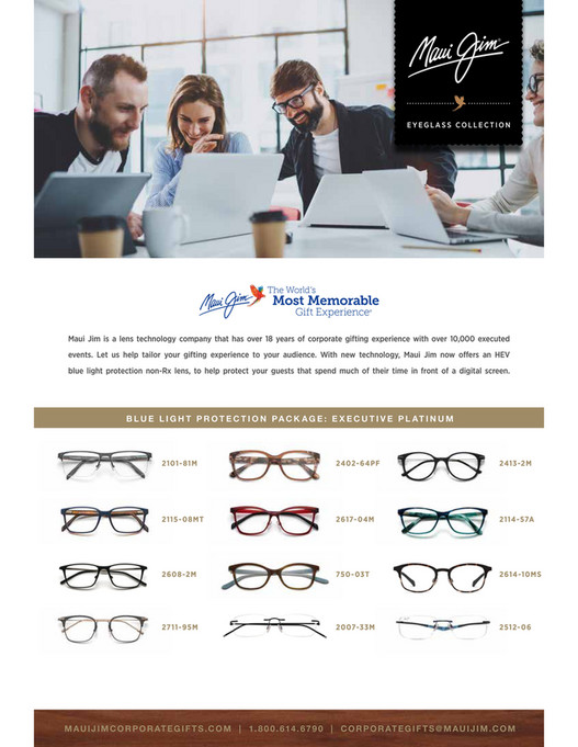 9b2ca6641bc EYEGLASS COLLECTION Maui Jim is a lens technology company that has over 18  years of corporate