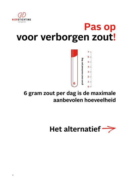 maximale hoeveelheid zout per dag