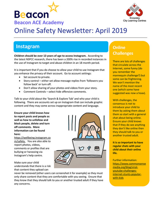 Beacon ACE Academy - Online Safety Newsletter April 2019_Beacon