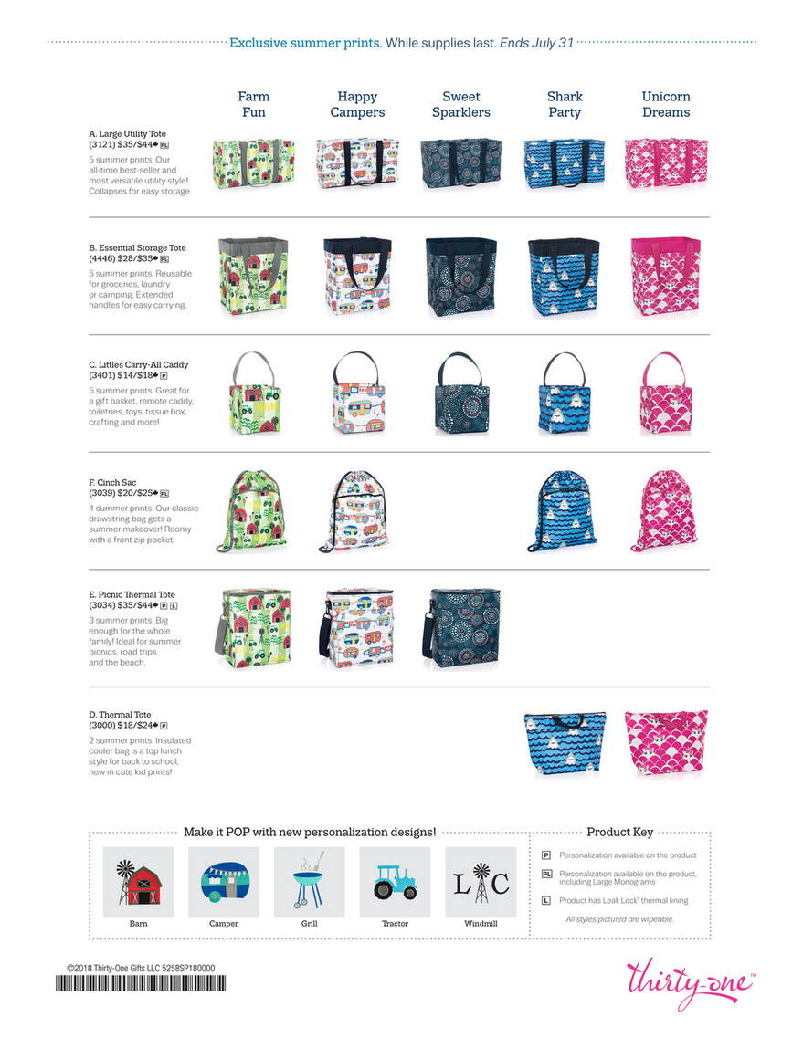 UNICORN DREAMS new Thirty-One Littles Carry-All Caddy