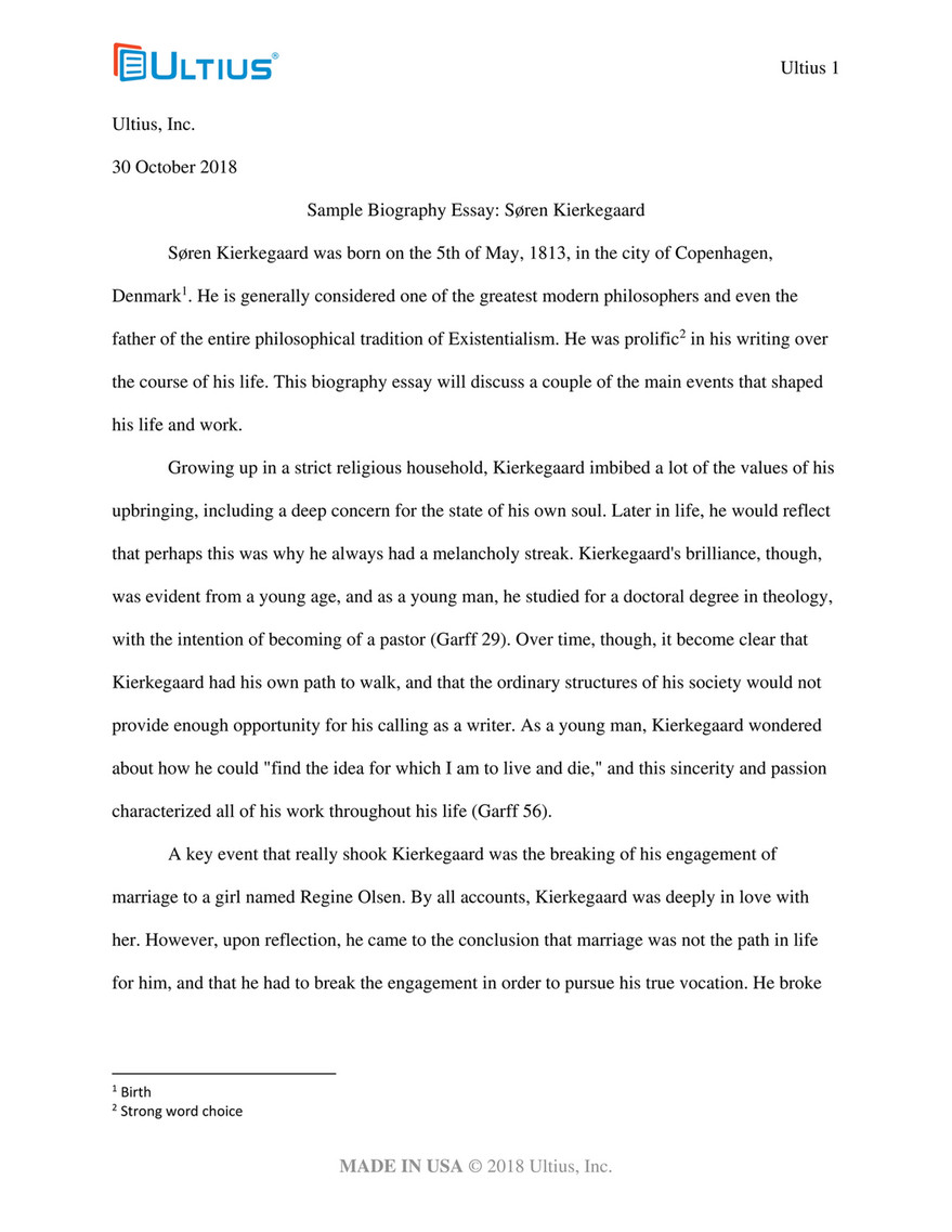 Essay In English For Students  Research Proposal Essay Example also Last Year Of High School Essay Sample Biography Essay From Ultius  Page   Created With  Argumentative Essay High School
