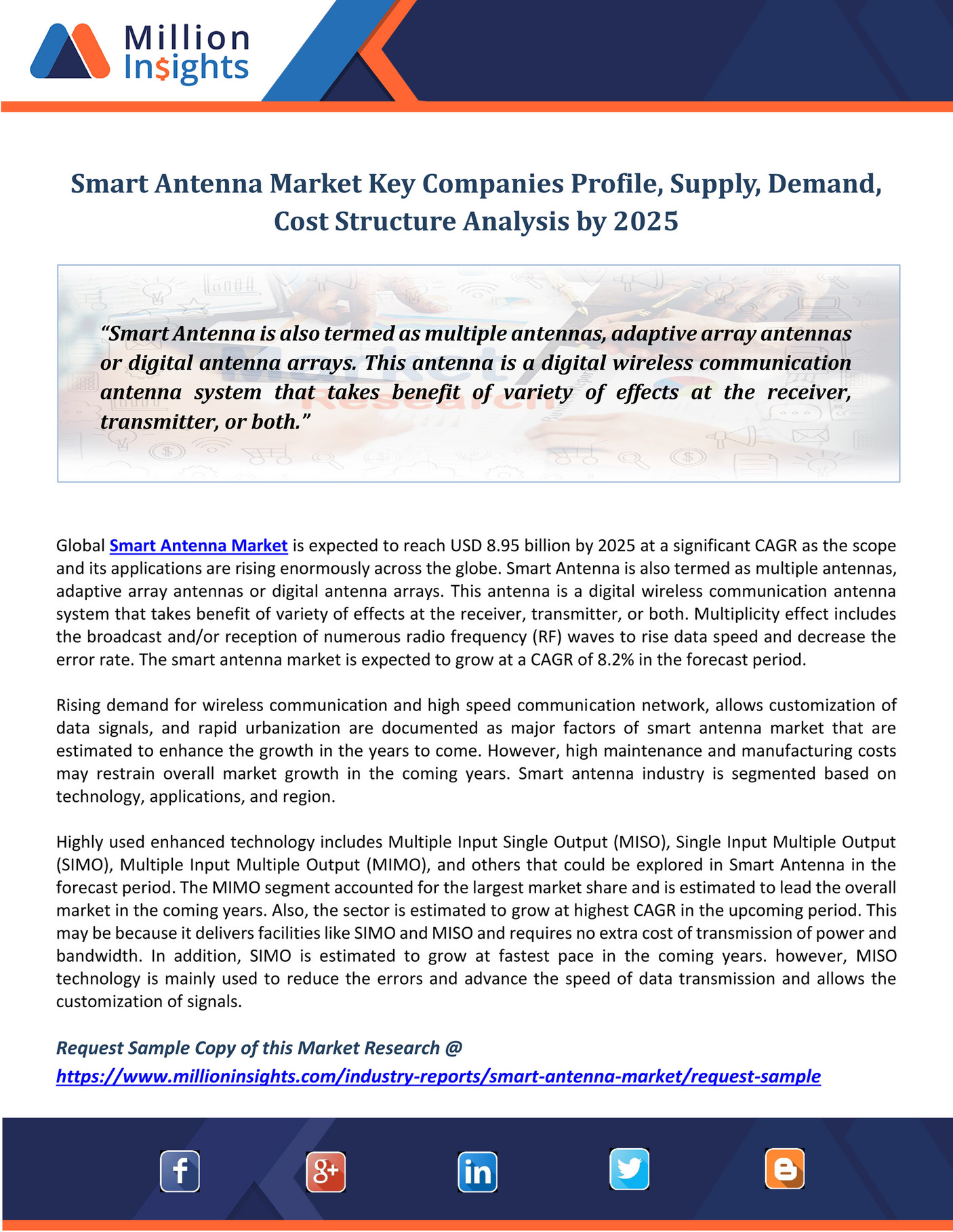 Smart Antenna Market Antennas Million Insights Key Companies Profile Supply Demand Cost Structure Analysis Page Created With