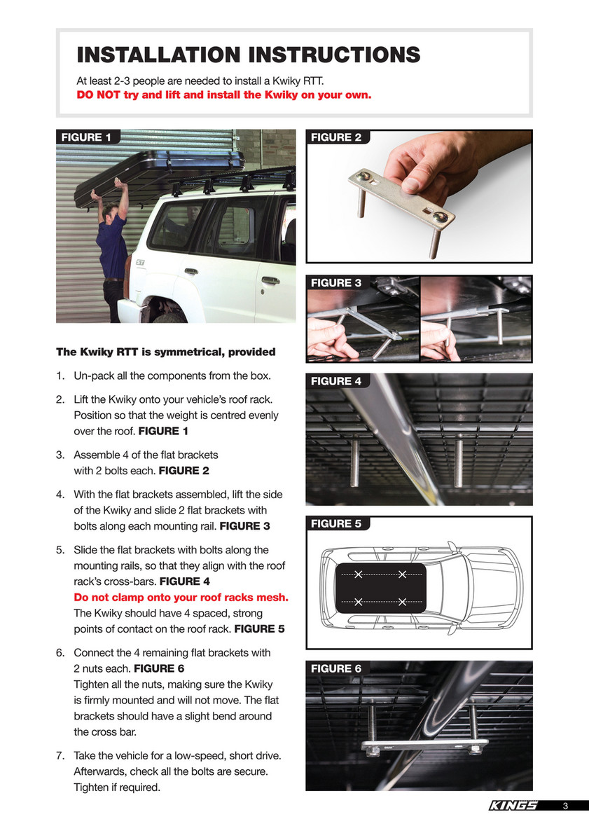 4Wd Supacentre Roof Rack Installation 4wd supacentre - akta-rtta_kwiky - page 2-3 - created with