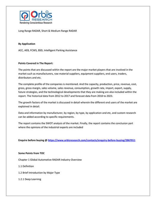 My publications - Automotive RADAR Market Dynamics