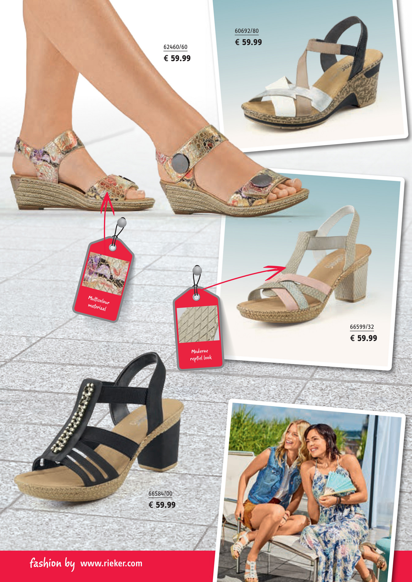 Nelson Schoenen Rieker voorjaarsfolder Rieker sandalen beige
