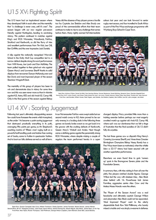 King Edward Vi Five Ways Schoo Chronicle 2012 Page 38 39