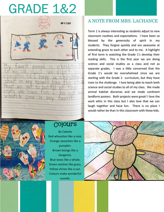 Foundation Christian School - Term 1 Newsletter 2017-2018 - Page 1