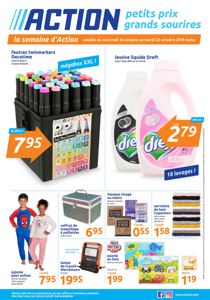 Folder Action du 16/10/2019 au 22/10/2019 - Promotions de la semaine 42