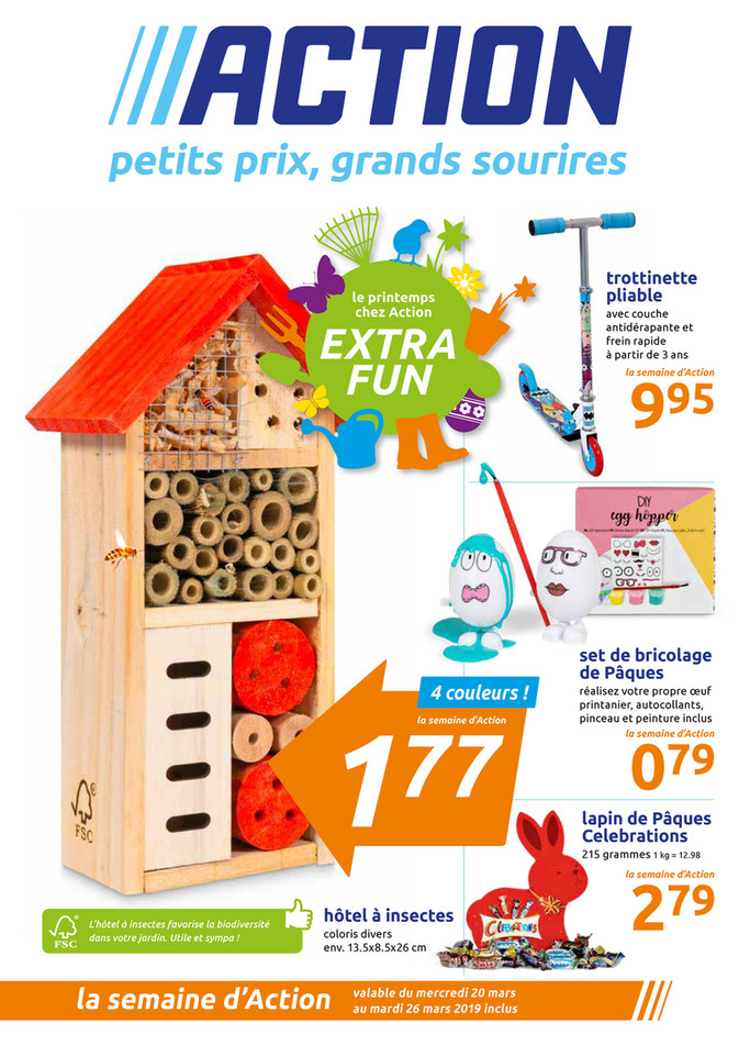 Folder Action du 20/03/2019 au 26/03/2019 - Promotions de la semaine 12