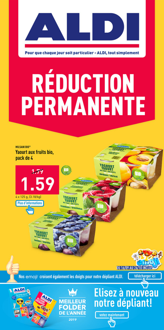 Folder Aldi du 07/10/2019 au 12/10/2019 - Promotions de la semaine 41