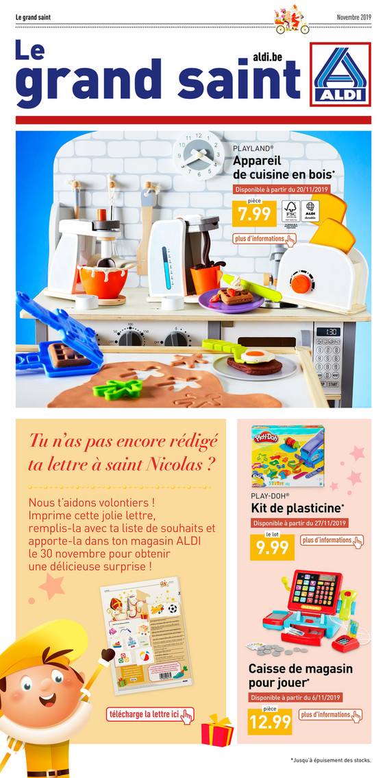 Folder Aldi du 01/11/2019 au 06/12/2019 - Sint