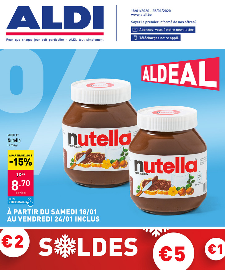 Folder Aldi du 18/01/2020 au 25/01/2020 - Promotions de la semaine 04