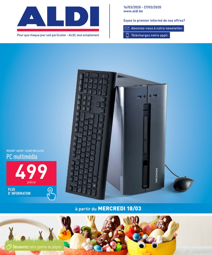 Folder Aldi du 16/03/2020 au 27/03/2020 - Promotions de la semaine 12