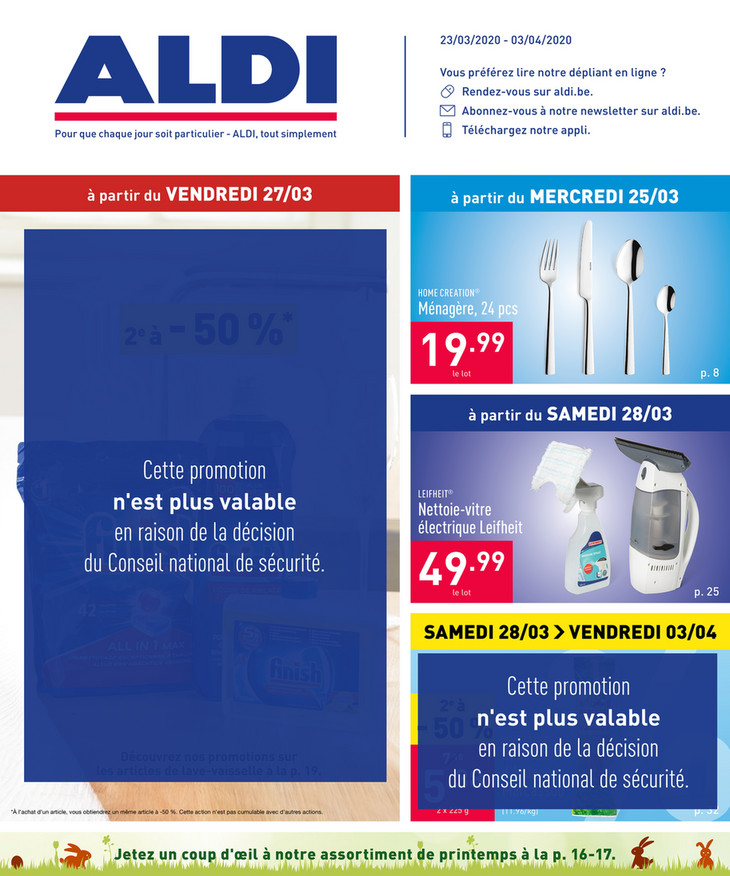 Folder Aldi du 23/03/2020 au 03/04/2020 - Promotions de la semaine 13