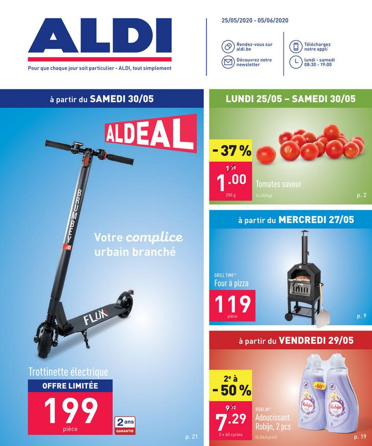Folder Aldi du 25/05/2020 au 05/06/2020 - Promotions de la semaine 22