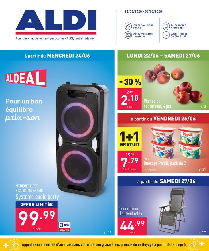Folder Aldi du 22/06/2020 au 03/07/2020 - Promotions de la semaine 26