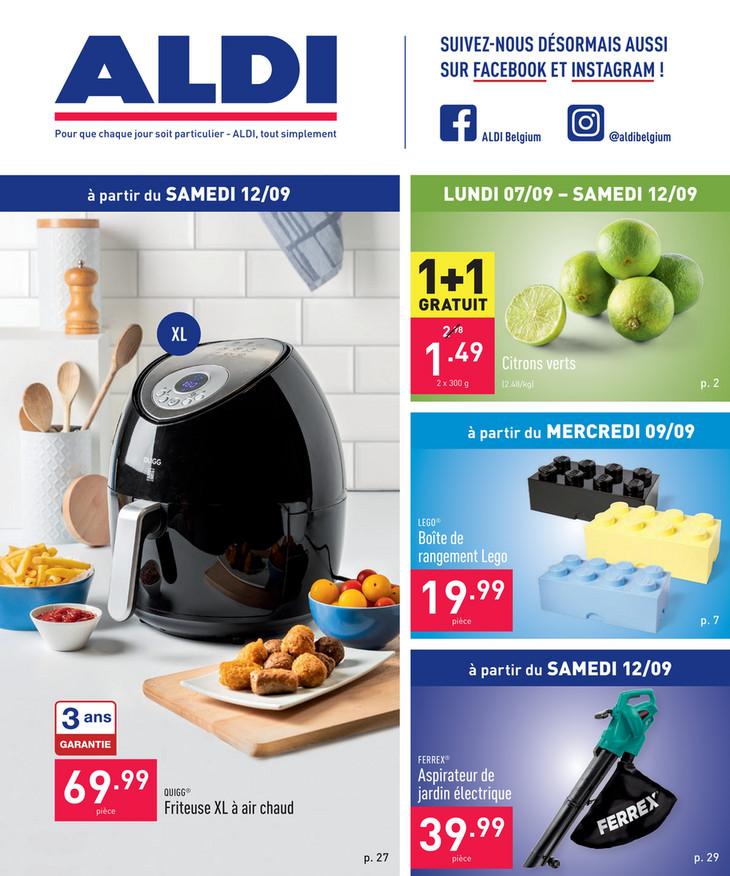 Folder Aldi du 07/09/2020 au 18/09/2020 - Promotions de la semaine 37