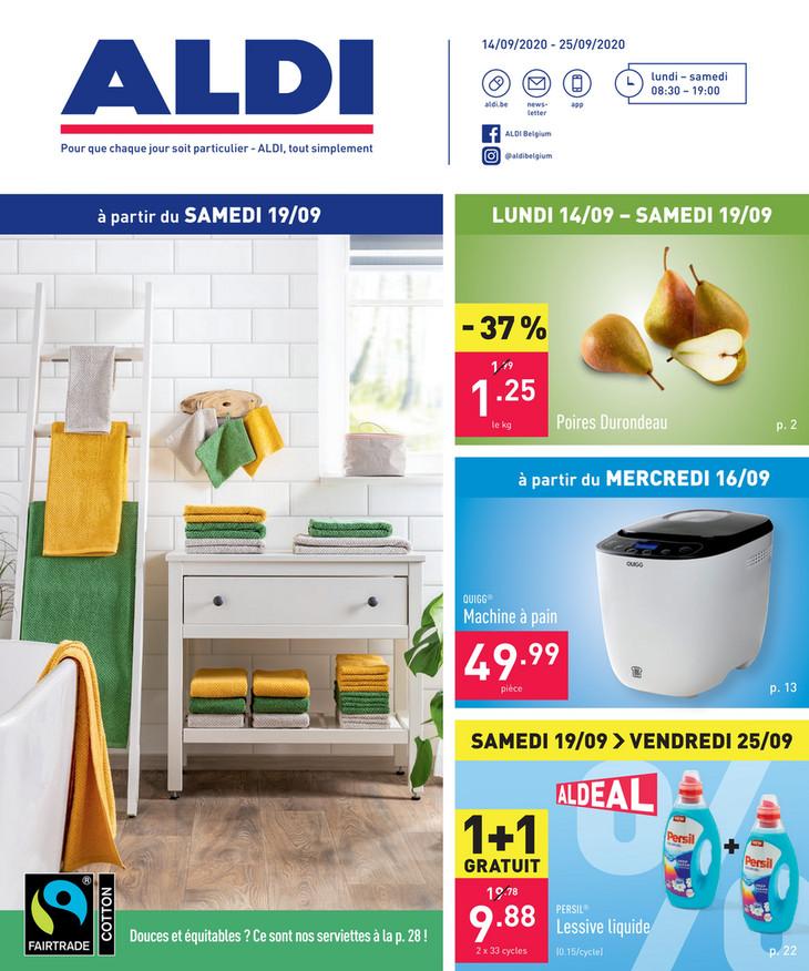 Folder Aldi du 14/09/2020 au 25/09/2020 - Promotions de la semaine 38
