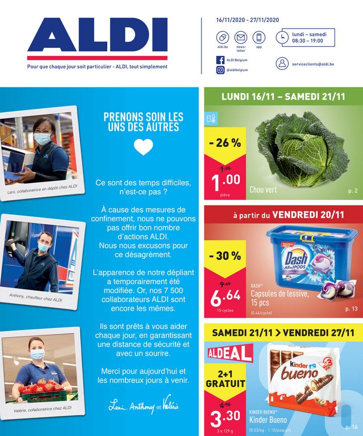 Folder Aldi du 16/11/2020 au 27/11/2020 - Promotions de la semaine 47