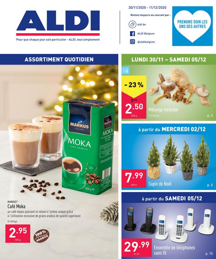 Folder Aldi du 30/11/2020 au 11/12/2020 - Promotions de la semaine 49