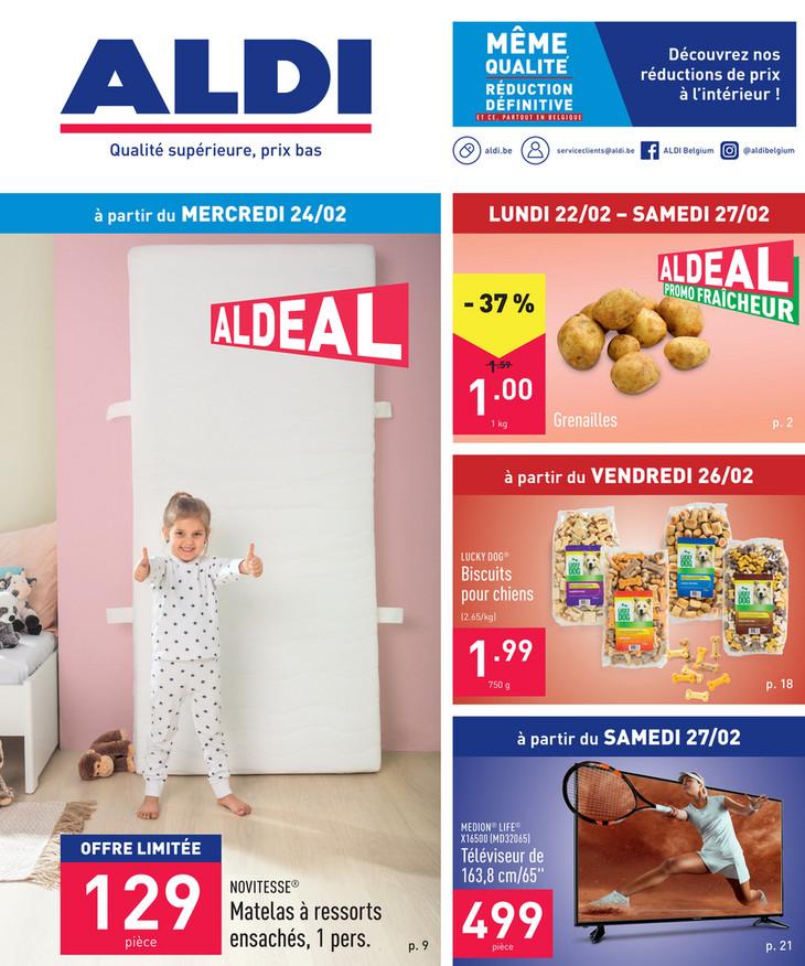 Folder Aldi du 22/02/2021 au 27/02/2021 - Promotions de la semaine 8