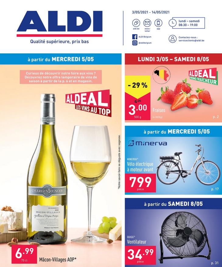 Folder Aldi du 03/05/2021 au 08/05/2021 - Promotions de la semaine 18