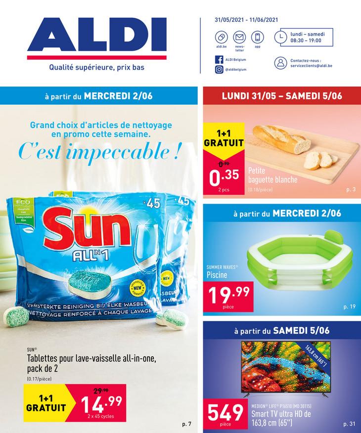 Folder Aldi du 31/05/2021 au 11/06/2021 - Promotions de la semaine 22