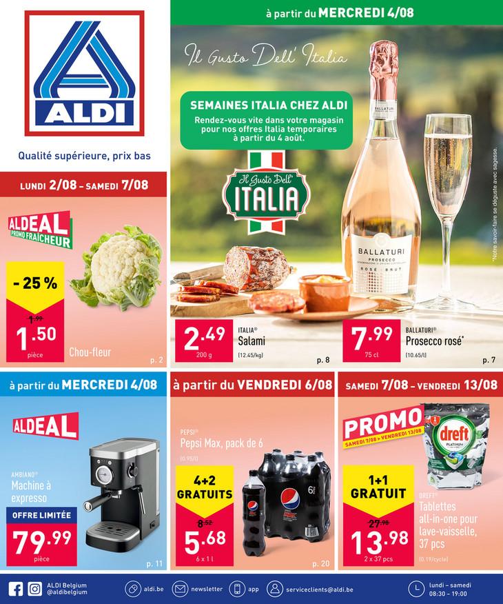 Folder Aldi du 04/08/2021 au 07/08/2021 - Promotions de la semaine 31