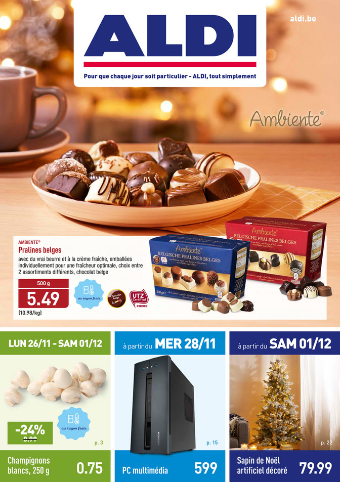 Folder Aldi du 26/11/2018 au 09/12/2018 - Promotions de la semaine 48