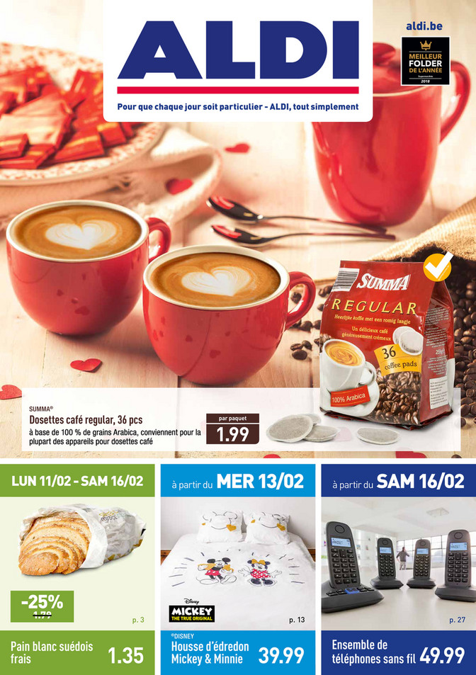 Folder Aldi du 11/02/2019 au 16/02/2019 - Promotions de la semaine 7